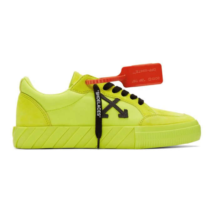 Off White Yellow Vulcanized Low Sneakers
