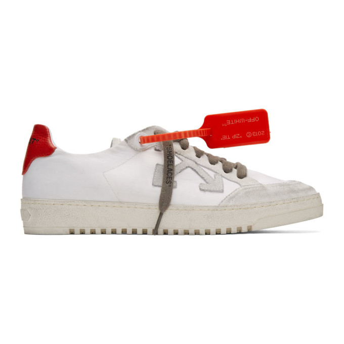 Off-white 2.0 Leather-trimmed Suede
