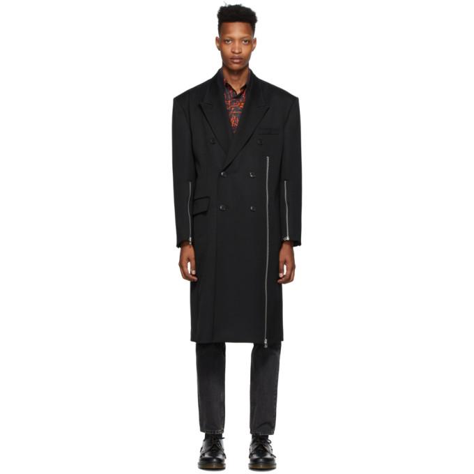 Johnlawrencesullivan Black Zip Double-breasted Coat