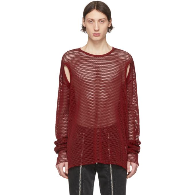 Johnlawrencesullivan Burgundy Mesh T-shirt In Red