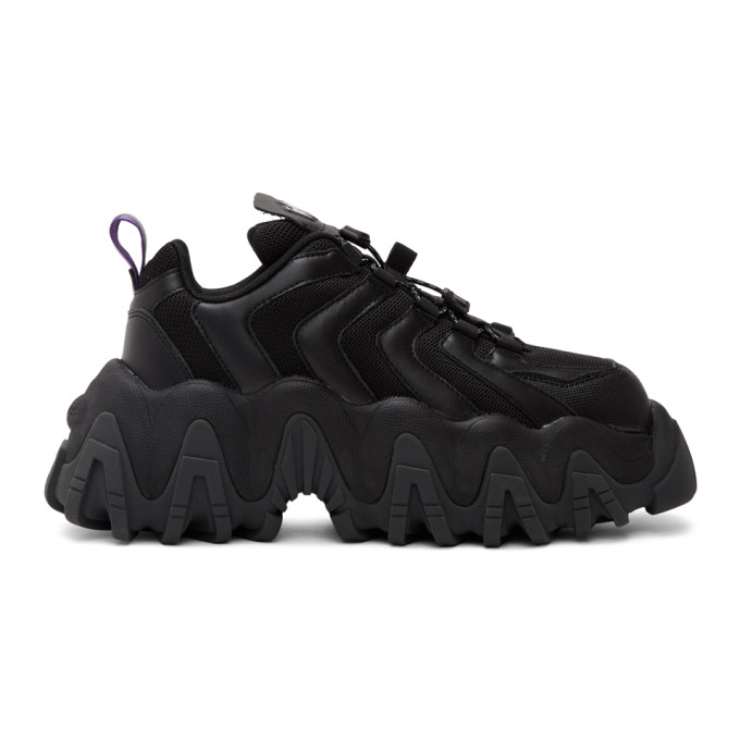 Eytys Halo Leather Sneakers In Black