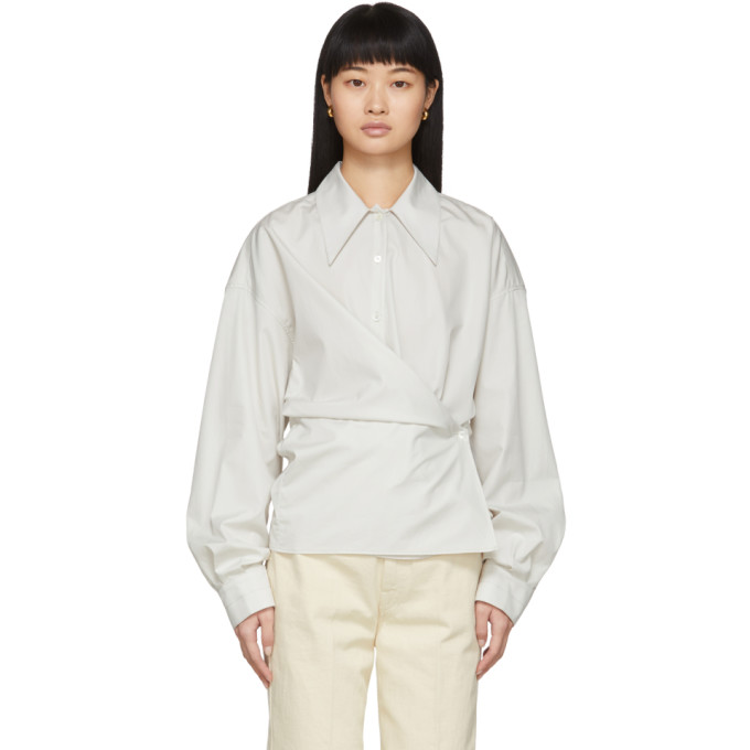 Lemaire Chemise blanc casse New Twisted