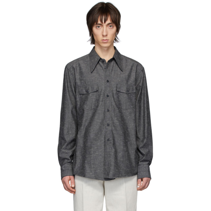 Lemaire Chemise western grise