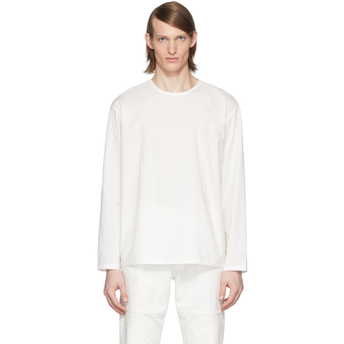 Lemaire T-shirt a manches longues blanc Rehearsal edition Can