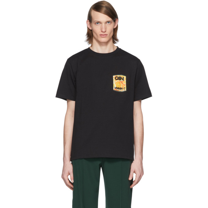 Lemaire T-shirt noir Vitamin C edition Can