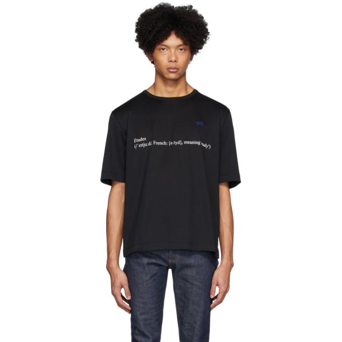 Etudes T-shirt noir Unity Definition