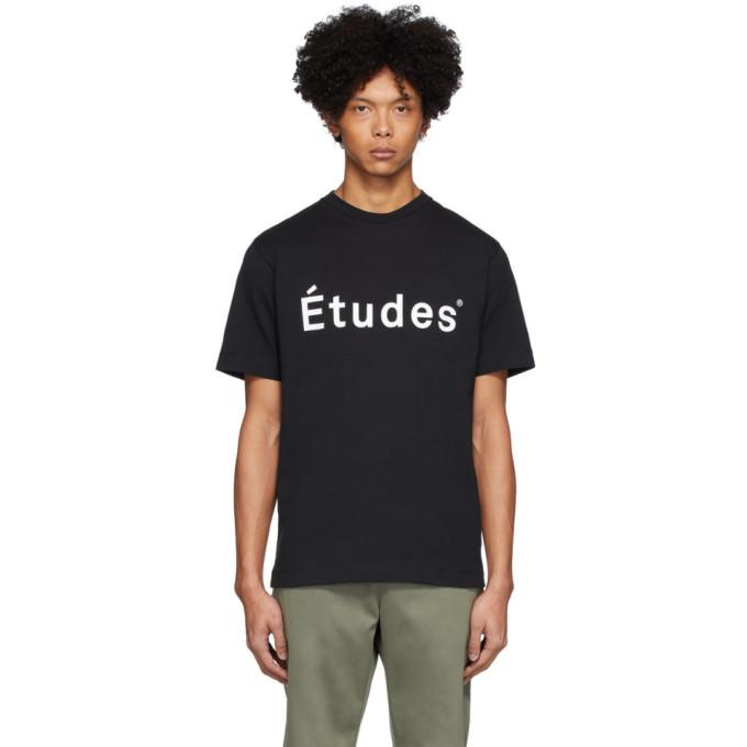 Etudes T-shirt a logo noir Wonder