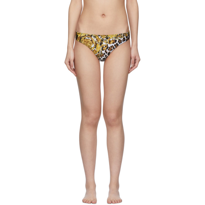 Versace Underwear Culotte de bikini multicolore Barocco Animal