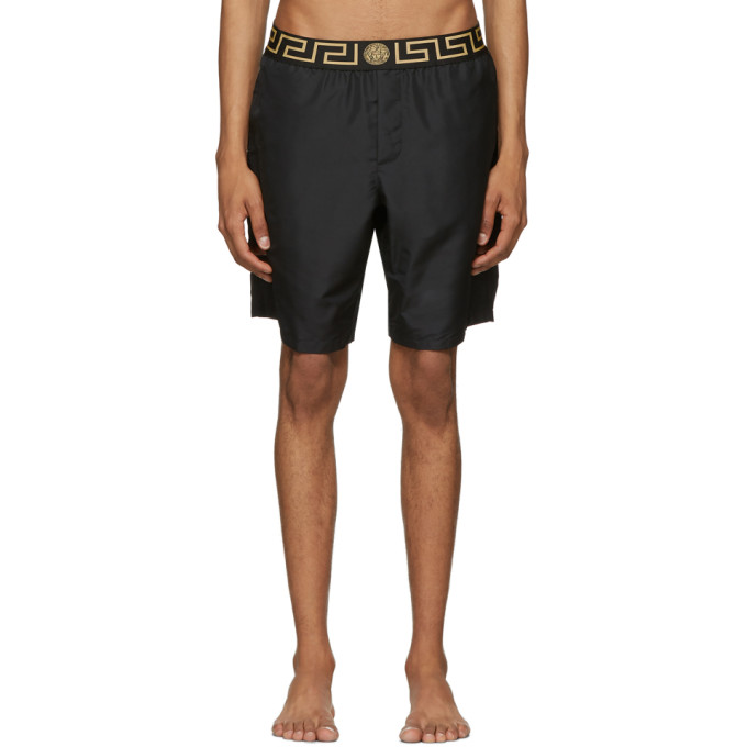 Versace Underwear Maillot de bain noir Greek Key