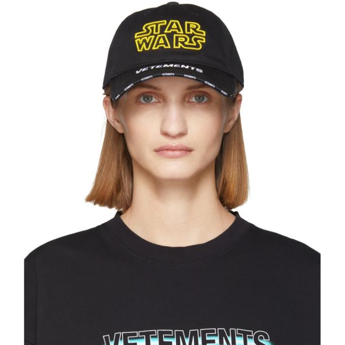 VETEMENTS Casquette a logo noire edition STAR WARS