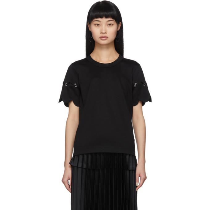 Noir Kei Ninomiya T-shirt festonne noir