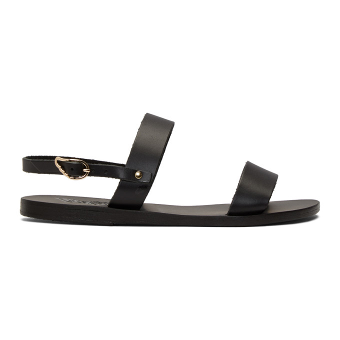 Buy Ancient Greek Sandals Black Clio Sandals online