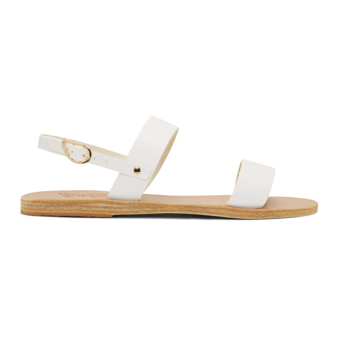 Buy Ancient Greek Sandals White Clio Sandals online