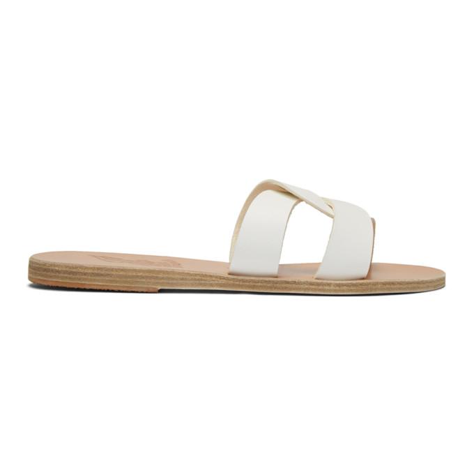 Buy Ancient Greek Sandals White Desmos Sandals online