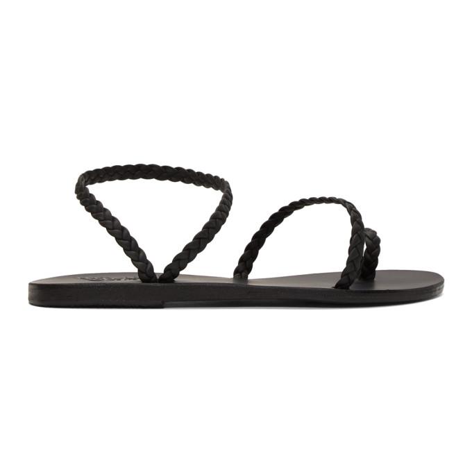 Buy Ancient Greek Sandals Black Eleftheria Sandals online