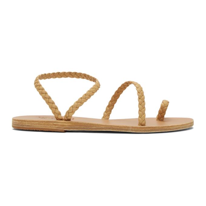 Buy Ancient Greek Sandals Beige Eleftheria Sandals online