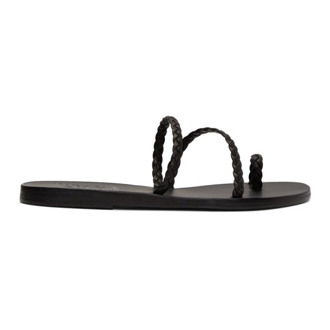 Buy Ancient Greek Sandals Black Katia Sandals online