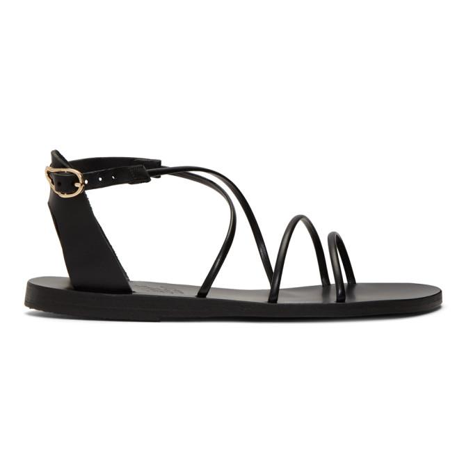 Ancient Greek Sandals Black Meloivia Sandals