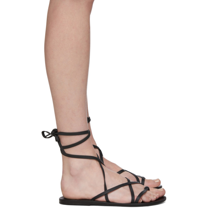 Buy Ancient Greek Sandals Black Morfi Sandals online