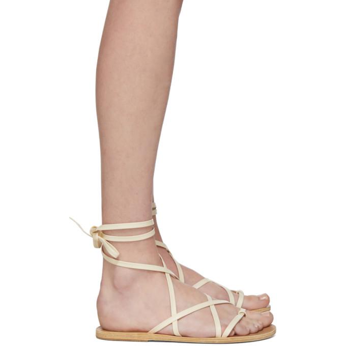 Buy Ancient Greek Sandals Off-White Morfi Sandals online