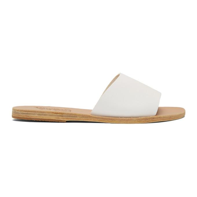 Buy Ancient Greek Sandals White Taygete Sandals online