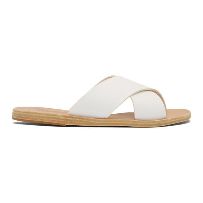 Buy Ancient Greek Sandals White Thais Sandals online
