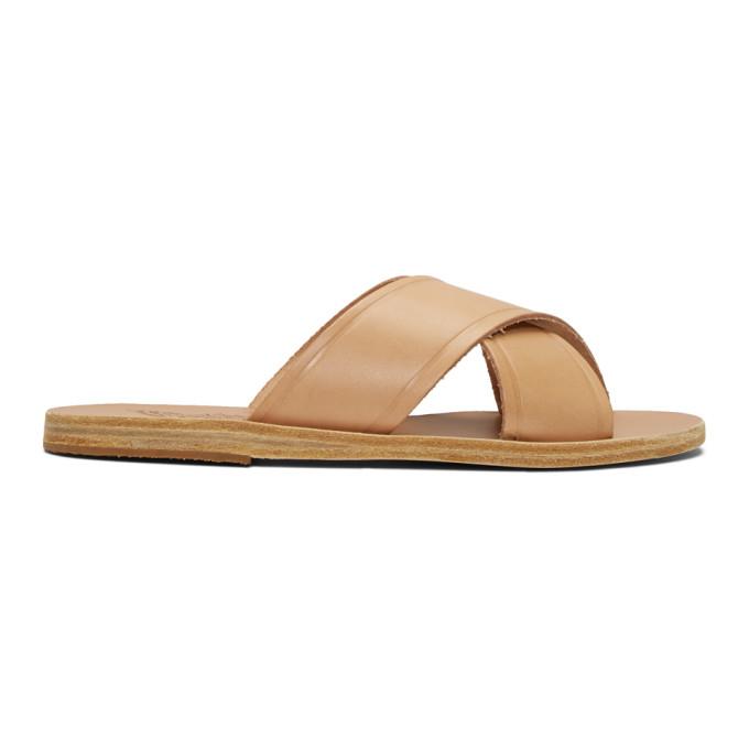Buy Ancient Greek Sandals Brown Thais Sandals online