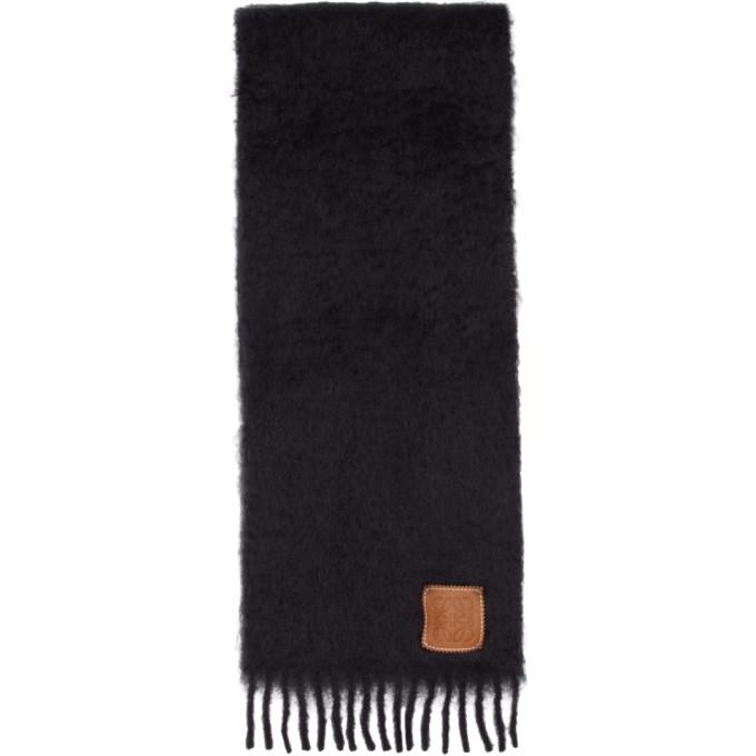 Loewe Foulard en mohair noir