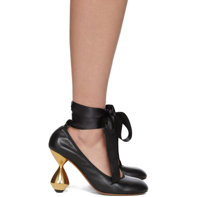 Loewe Chaussures a talons hauts noires Ballerina 90
