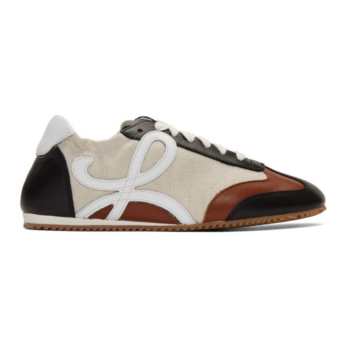 Loewe Sneakers LOEWE BEIGE AND NAVY BALLET RUNNER SNEAKERS