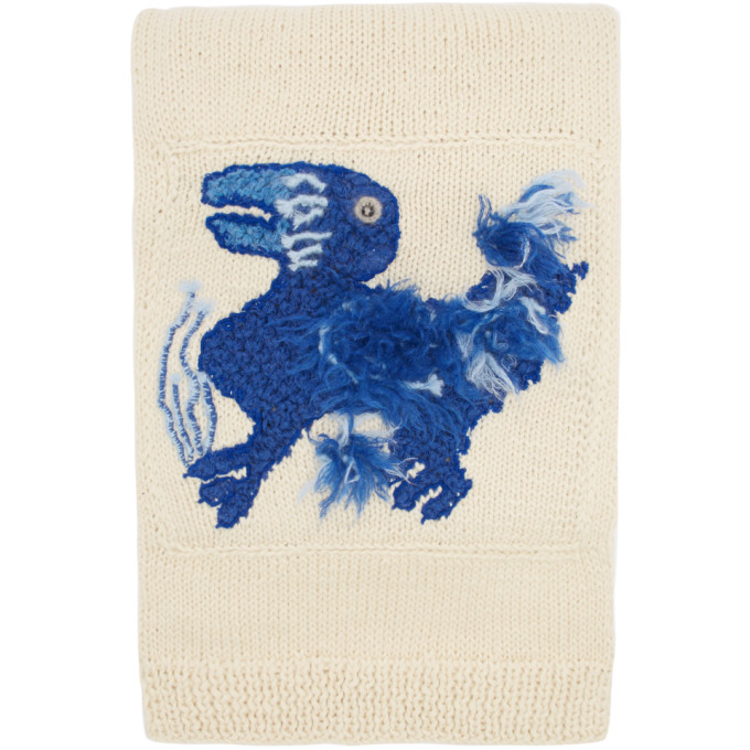 Loewe Off-White William De Morgan Knit Embroidered Scarf
