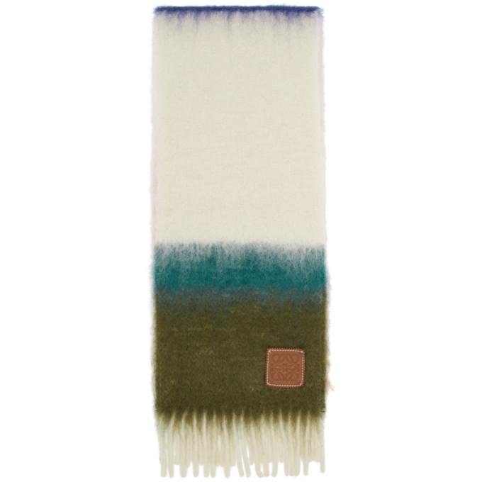 Loewe Foulard en mohair raye multicolore William De Morgan
