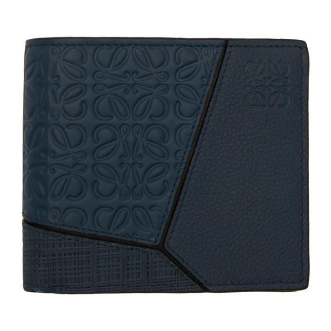 Loewe Navy Anagram Puzzle Wallet