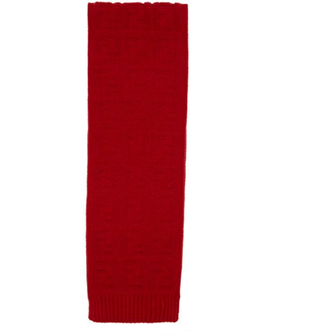 Fendi Foulard en mohair rouge Forever Fendi