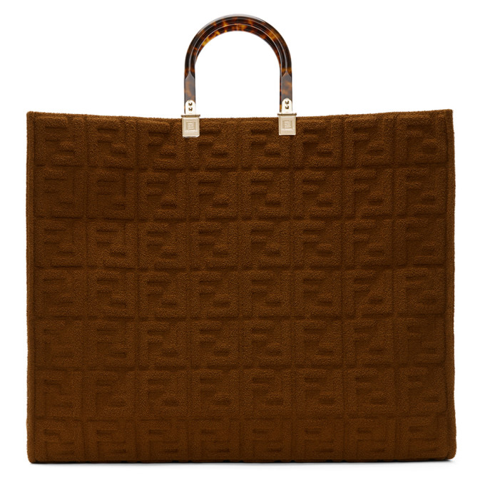 Fendi Brown Forever Fendi Sunshine Shopper Tote  - buy with discount