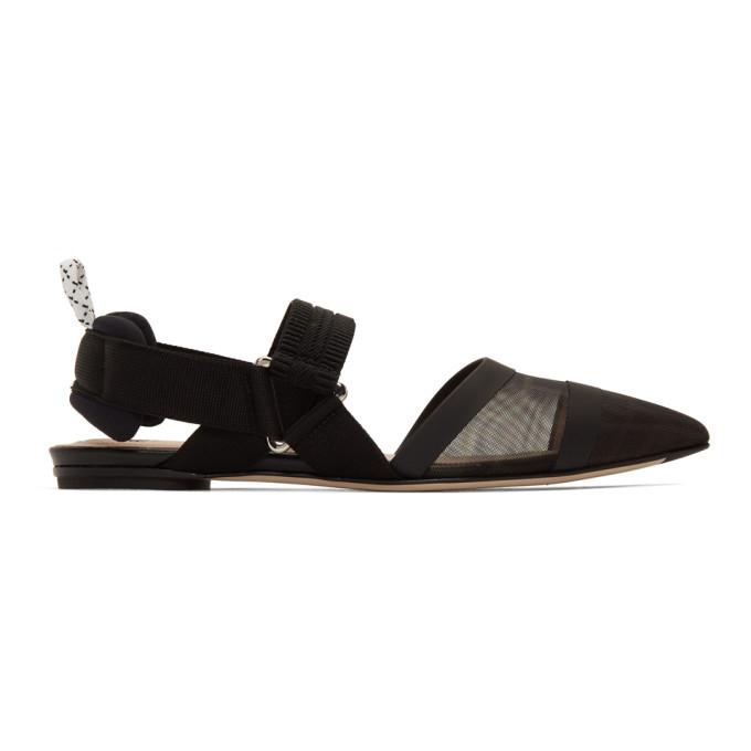 Buy Fendi Black Colibri Slingback Ballerina Flats online