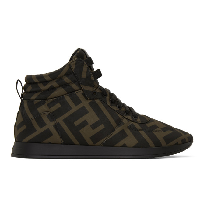 Fendi Brown and Black Forever Fendi Sneakers