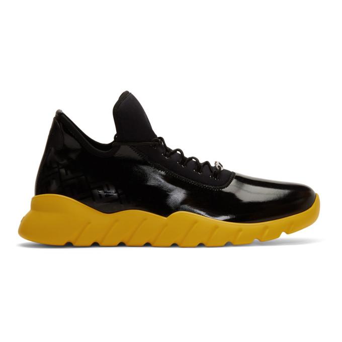 Yellow Forever Fendi Runner Sneakers