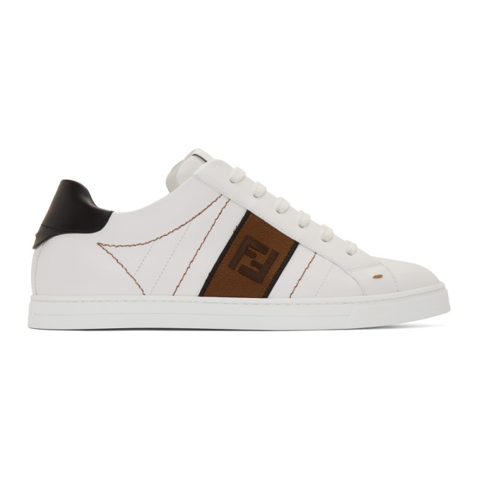 Fendi Logo-embroidered Low-top Leather