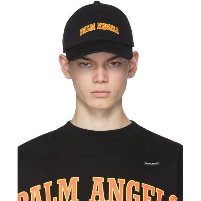 Palm Angels Casquette a logo noire New College