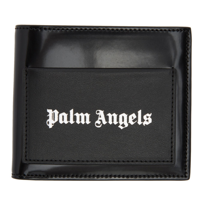 Palm Angels Black Iconic Bifold Wallet