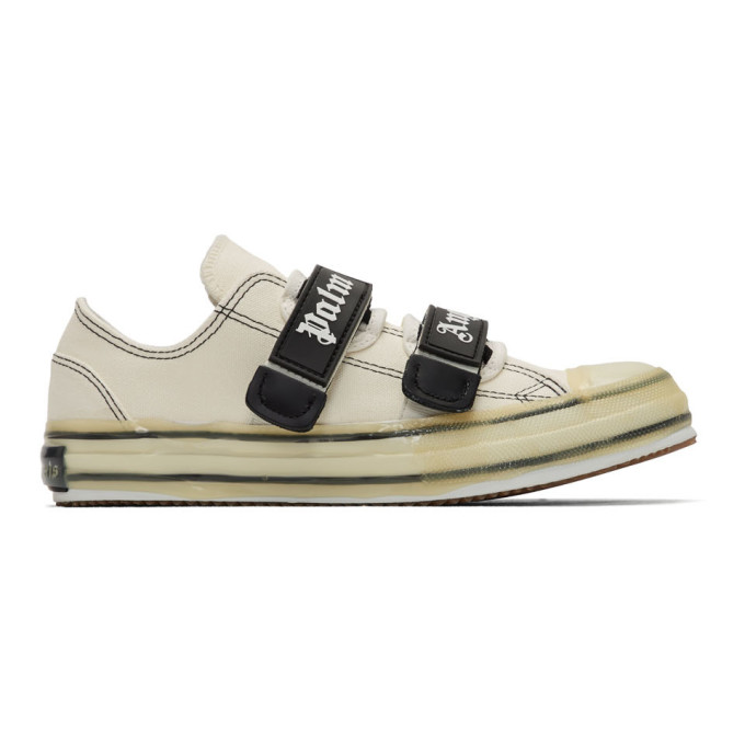 Palm Angels Baskets a logo blanches Vulcanized