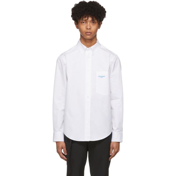 Wooyoungmi Chemise en popeline a logo blanche