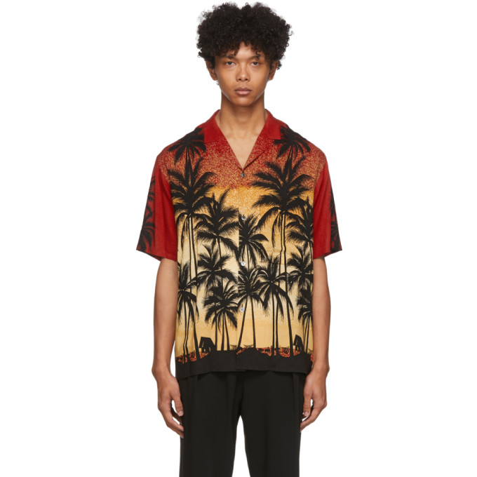 Wooyoungmi Chemise rouge Palm Tree