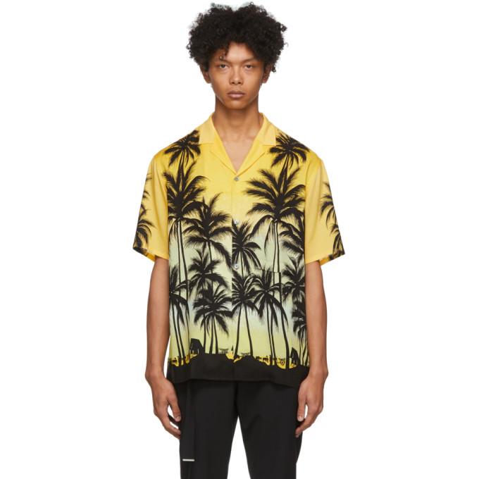 Wooyoungmi Chemise jaune Palm Tree
