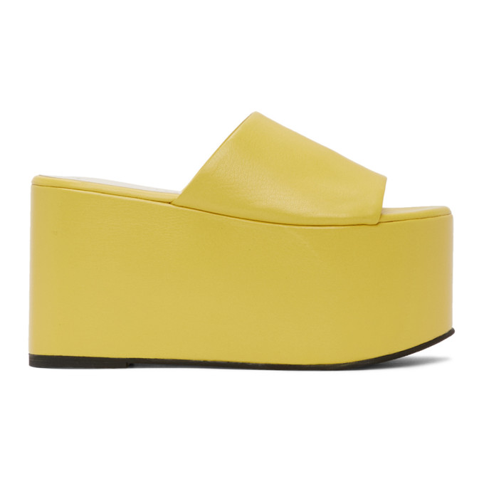 Simon Miller SIMON MILLER YELLOW BLACKOUT PLATFORM SANDALS