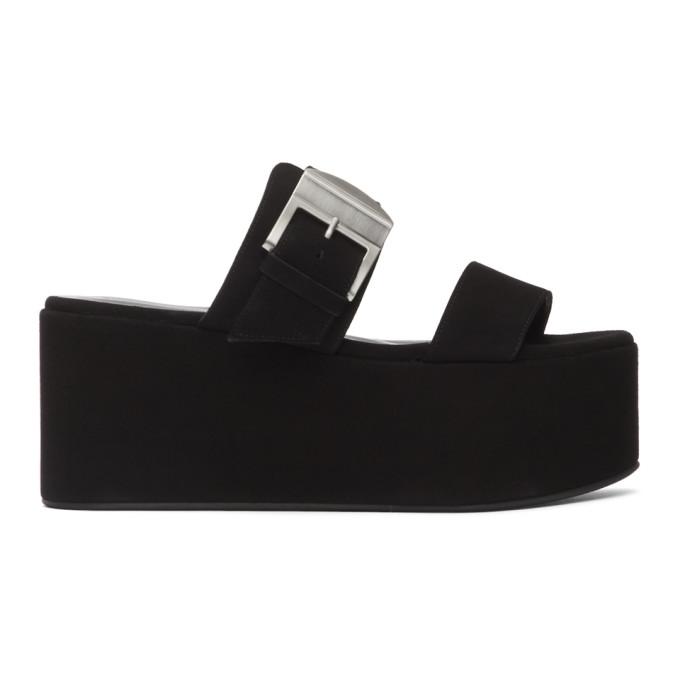 Buy Simon Miller Black Suede Coaster Platform Sandals online