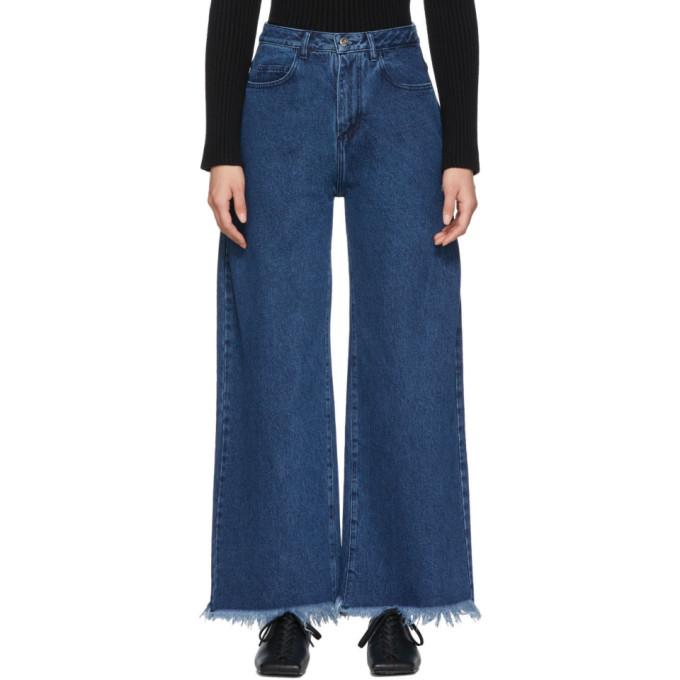 Marques' Almeida Jeans MARQUES ALMEIDA BLUE BOYFRIEND JEANS