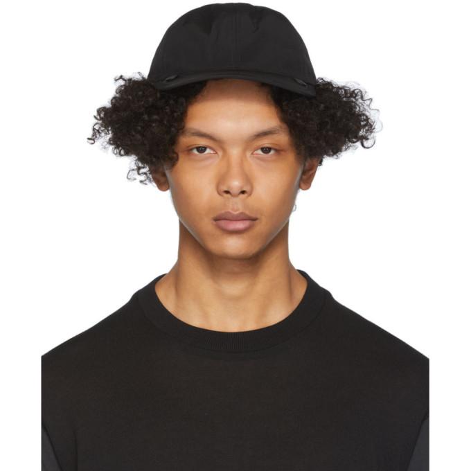 Issey Miyake Men Casquette en nylon noire Condense