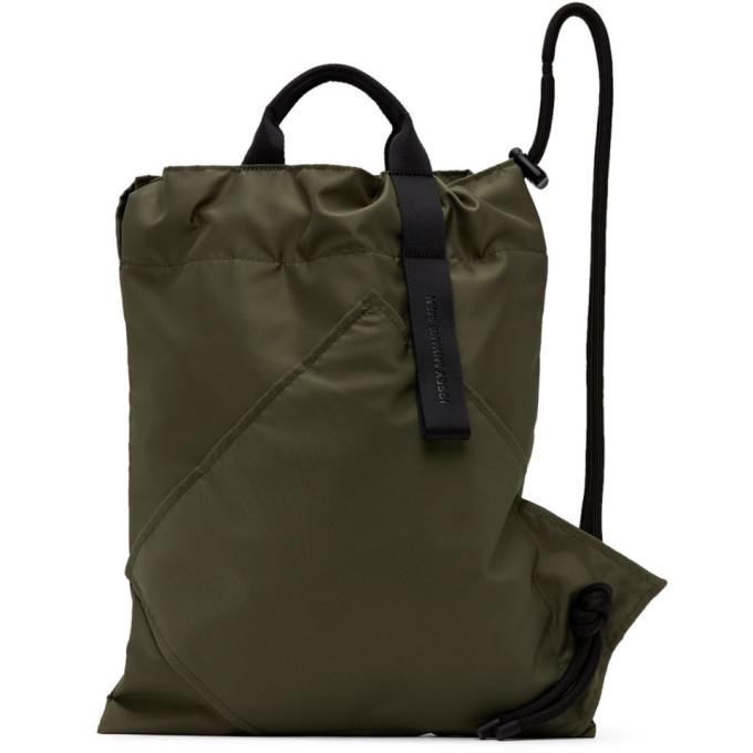 Issey Miyake Open-top Backpack In 65 Khaki